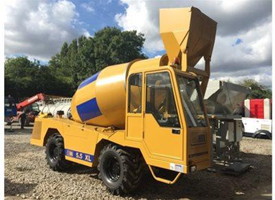 Self-Loading Rough Terrain Concrete Mixers