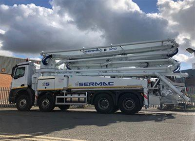 1 off New MERCEDES / SERMAC model ZENITH 5Z42 AG9L10-194-80 Truck Mounted Concrete Pump (2020)
