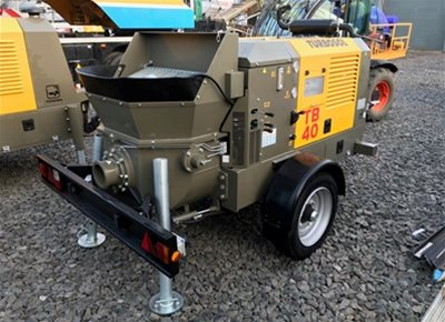 1 off Used HYDROPUMP / TURBOSOL model TB40/T Trailer Mounted Concrete Pump (2018)